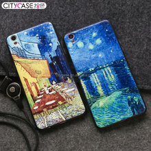Citycase Oil painting hard back cell phone case / mobile frame cover for OPPO R9 / R9 PLUS custom
