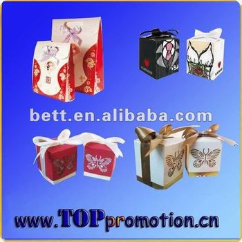 Luxury colorful fashion present packing box.