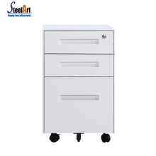 Office storage flat file cabinet white stainless steel file cabinet mobile cabinet with wheels