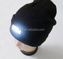 5 LED Hands Free Unisex Lighted Winter Cap Custom LED Beanie Hat For Hunting Camping, Grilling, Jogging