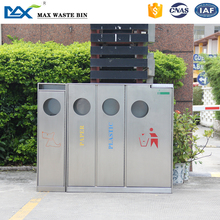 delete recycle bin With lock,stainless stell dustbin in guanghzou