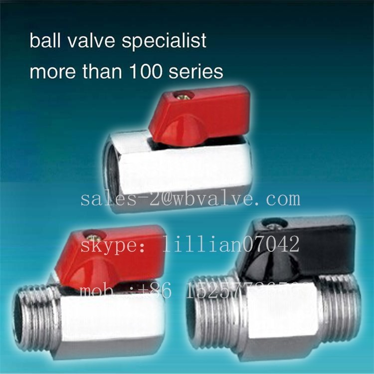 brass chrome plated mini ball valve Yuhuan / float valves / small ball float valve