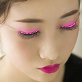 Cheapest Colour Changing LED Eyelashes Luminous Eye Lashes For Halloween Masquerade Party