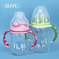 baby products in china PA PP 240ml arc shape wide neck nipple new baby feeding bottle baby