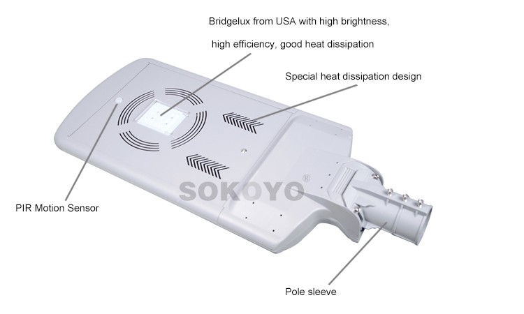 Chinese reliable manufacturer provide integrated solar motion sensor light