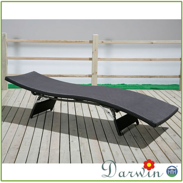 Garden PE Rattan Hotel Furniture Sun Armless Used Chaise Lounge