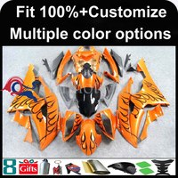 INJECTION MOLDING panels orange black flames fairing 2008 2009 2010 2011 2012 YZFR6 For yamaha Fairing YZF R6 2008 2012 2009 2
