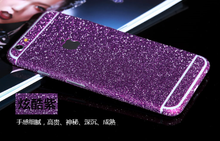 Colorful Glitter bling bling Full Body Sticker For iPhone 4 5 6 Shinny Skin Sticker, front back cover skin for iphone 4 5 6