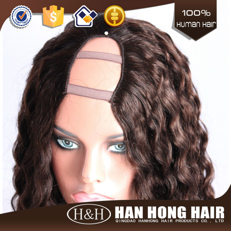 Top quality Cheap Natural Real 100% Human human hair kinky curly brazilian virgin hair u part wig white women lace wigs