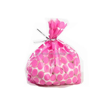 Clear PP cellophane printed gift candy packaging bags
