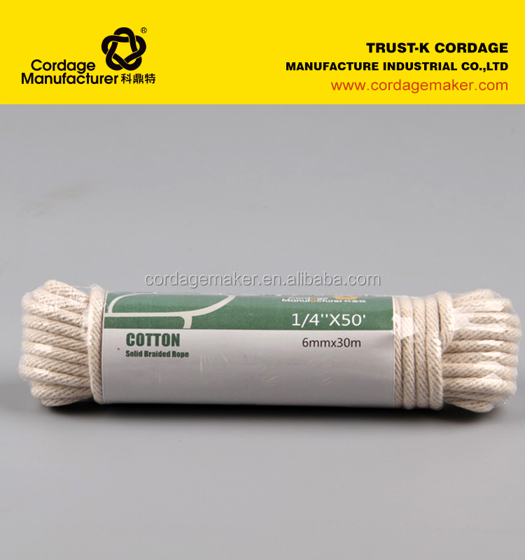 Cotton rope/Cotton solid braided rope