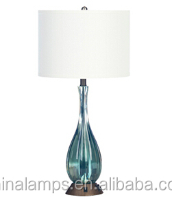 blue bedside hotel table lamp for leisure public areas. Black Bedroom Furniture Sets. Home Design Ideas