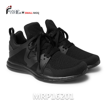 Black Flyknit Mesh Men Active Action Sports Running Shoes