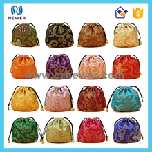High quality waterproof drawstring polyester laundry bags with bottom