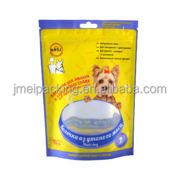 Free sample dog treats plastic packaging bag dog biscuit packaging ziplock bag