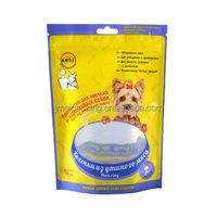 Free sample dog treats plastic packaging bag dog biscuit packaging ziplock bag