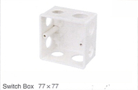 EMON switch box 77x77 pvc pipe price pvc electrical pipe fitting