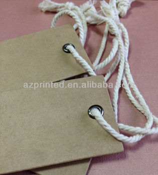 custom thick board kraft hang tag with string & kraft hang tag wholesale