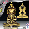 Wholesale customized metal emblem religious badges maker