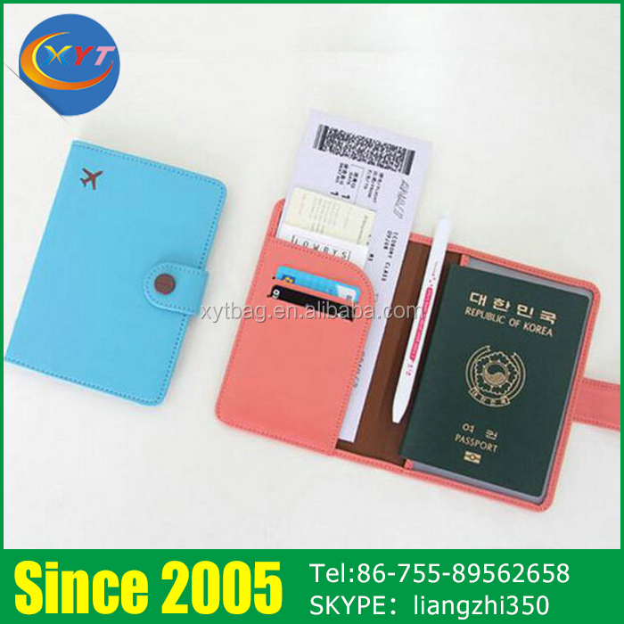 Custom Novelty Personalized Colorful Leather Cute Passport Holder