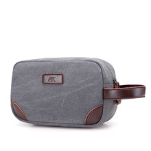 RY1165 Vintage Men Clutch Bags male cosmetic bag Canvas