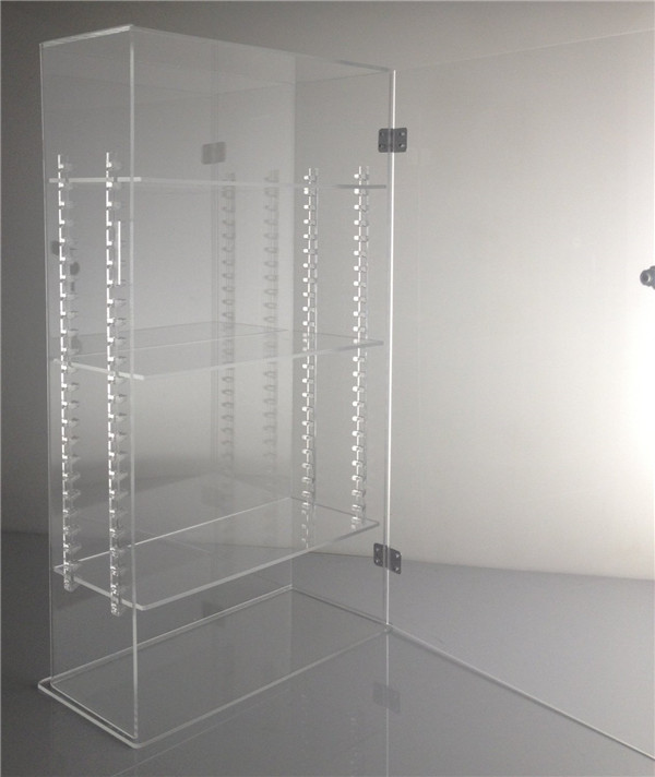 2016 ClearJewellery Window Display Lucite Jewelry Showcase With Adjustable Shelves Acrylic Jewelry Display Case Lock Wholesale