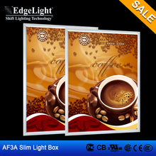 Edgelight AF3A aluminium profile light box display advertisement