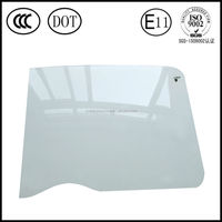 Good quality John Deere excavator curved glass cab windshield glass