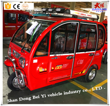 Hot sell three wheel 48V solar electric battery operated tricycle passenger car for India