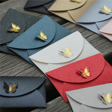 Custom Fancy Design Printed Gold Foil Butterfly Colored Iridescent Paper Folded Card Envelopes