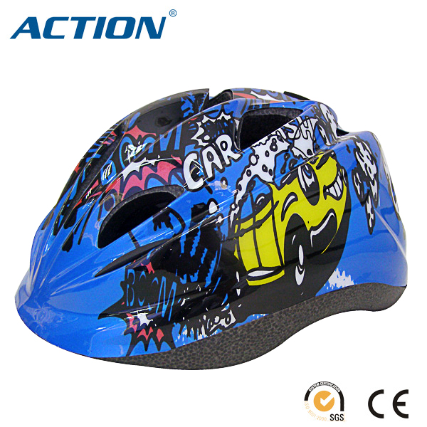 novelty cartoon pattern child bicycle helmet with 12 air vents