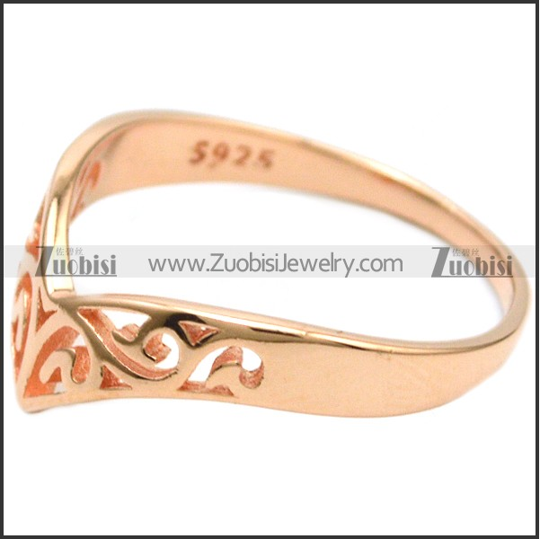 Women 925 Sterling Silver Jewelry in Beautiful Hollow Pattern Charms as Sterling Silver 925 Ring Gift for Elegant Ladies