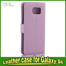 Bottom price promotional for samsung s6 pu leather back cover