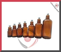 50ml Amber Bottles for Essential Oils with Roll-ons Cap