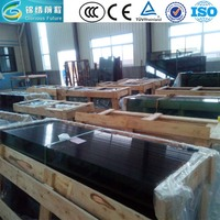 China plants manufacture OEM low price colored tempered glass with CCC ISO BV and CE