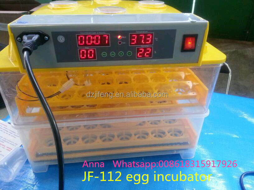 JF-112 new design 100 eggs CE approve automatic poultry incubator machine/industrial egg incubator for sale