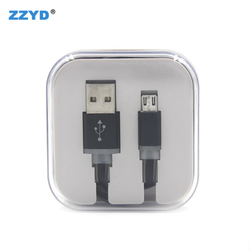 ZZYD 3ft Noodle Cable Candy Color Micro <strong>USB</strong> V8 Charge Data Cable For Android Charging Cell Phone Cable For Samsung