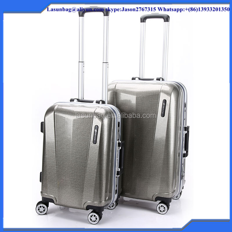 2016 Best Designer linen lines Grey Color Business Tralley Trolley Luggage Bags