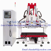 funiture making cnc ATC router/wood door making movable table cnc router/ cabinet door cnc cutting machine
