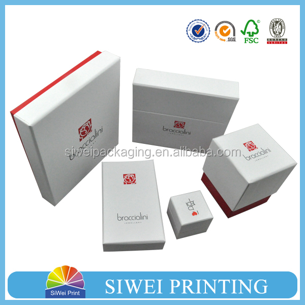 Luxury custom logo printed gift jewelry box cardboard jewelry box for jewelry packaging