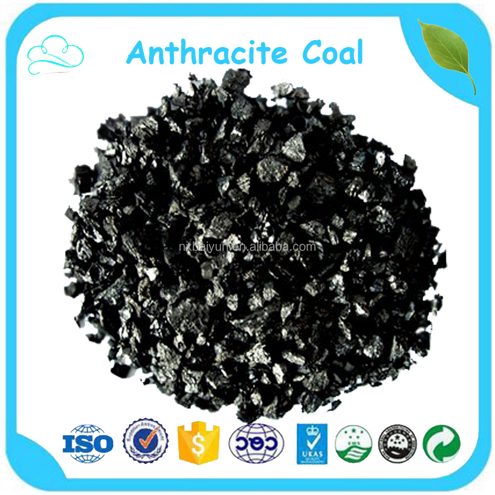 Factory Price 85% Fixed Carbon 1-2mm Anthracite Filter Media For Water Treatment
