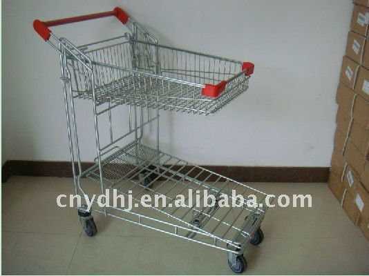 Wire Basket Trolley for Warehouse YD-F00