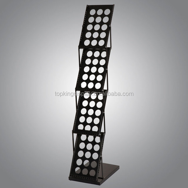 hot sale metal display rack/brochure holder/magazine stand