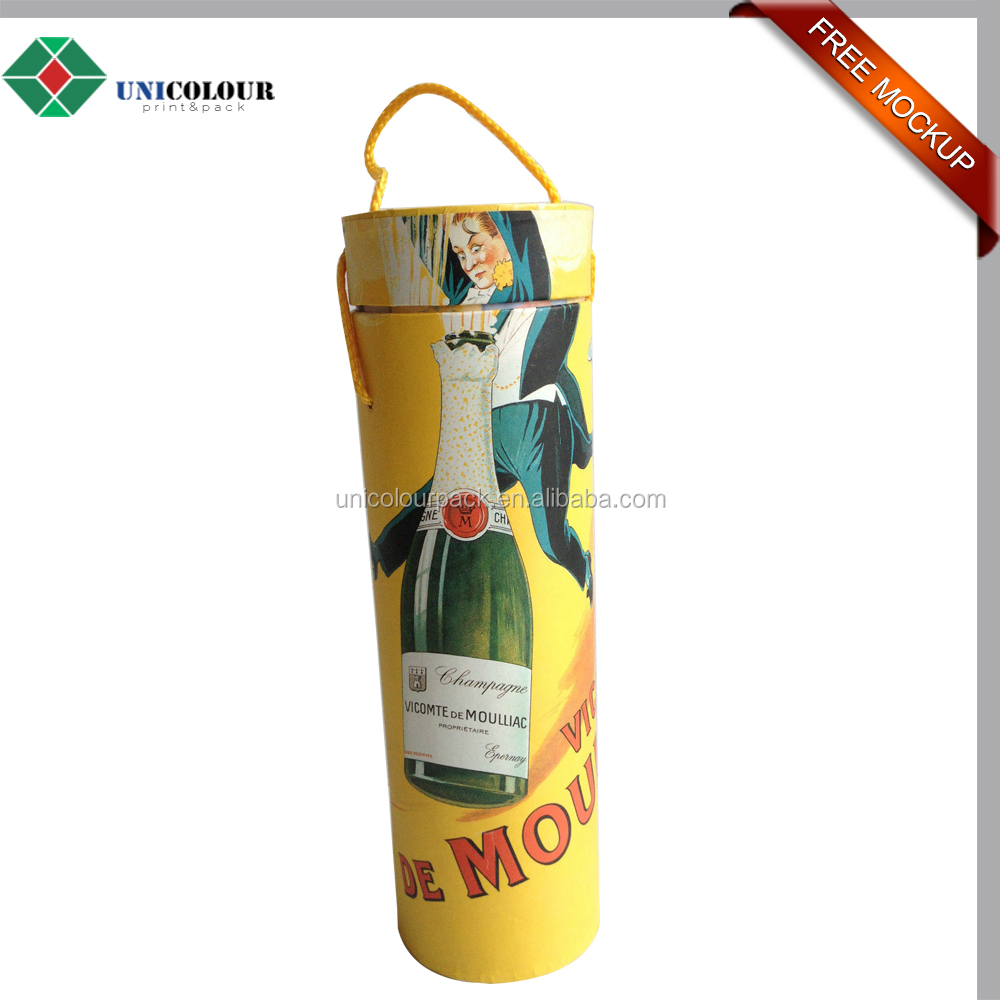 Premium recycled wine cardboard packing tube