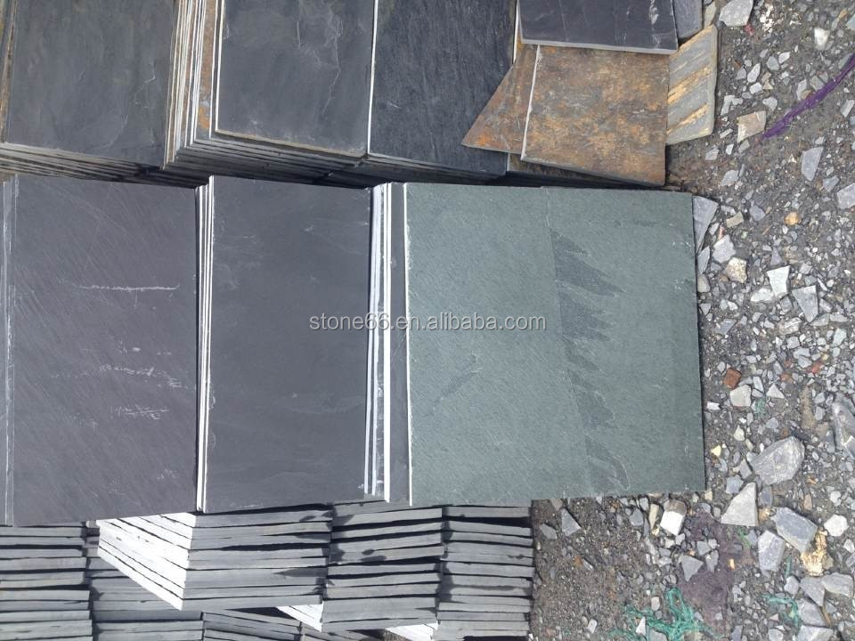 Natural black wall slate for facades with high quality