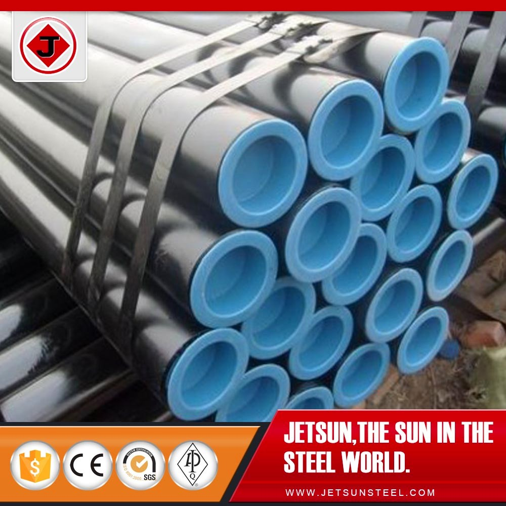 china supplier api 5l Gr.B black sch40 sch80 low carbon steel seamless pipe