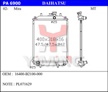 radiator for Daihatsu Mira 16400-B2100-000
