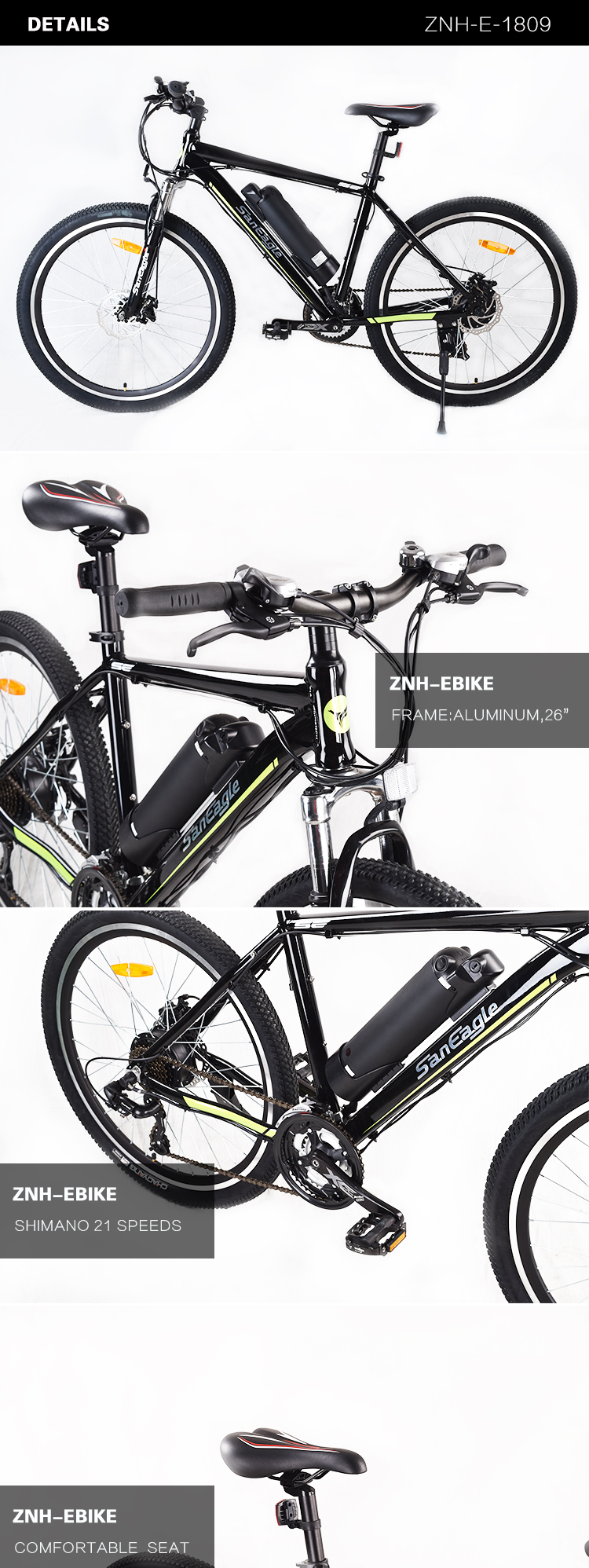 2017 26er kettle battery electric mountain bicycle