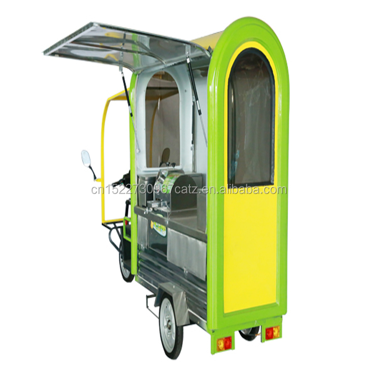 2018 Three wheel electric vehicle with juice extractor