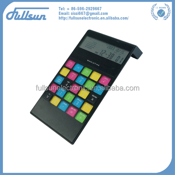 8 digital desktop solar calendar calculator with digital clock FS-2037